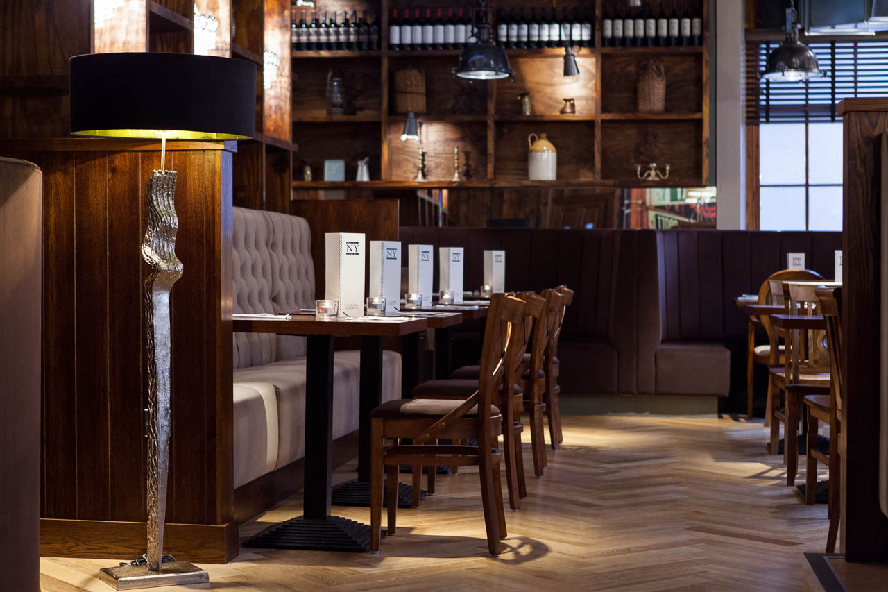 American ny grill glasgow space i d interior designers
